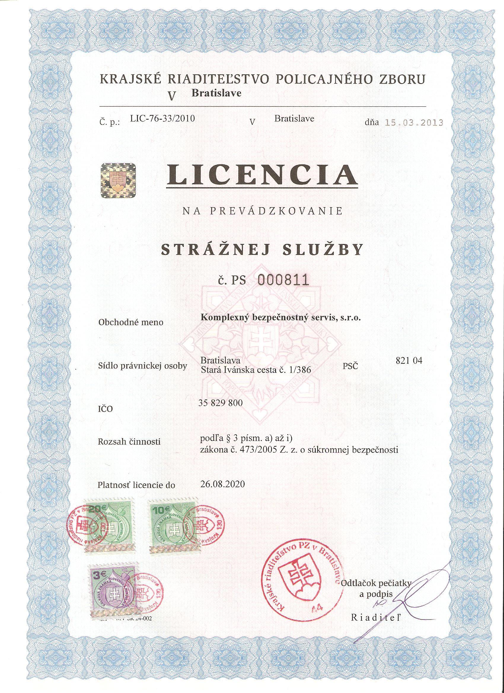 kbs-licencia